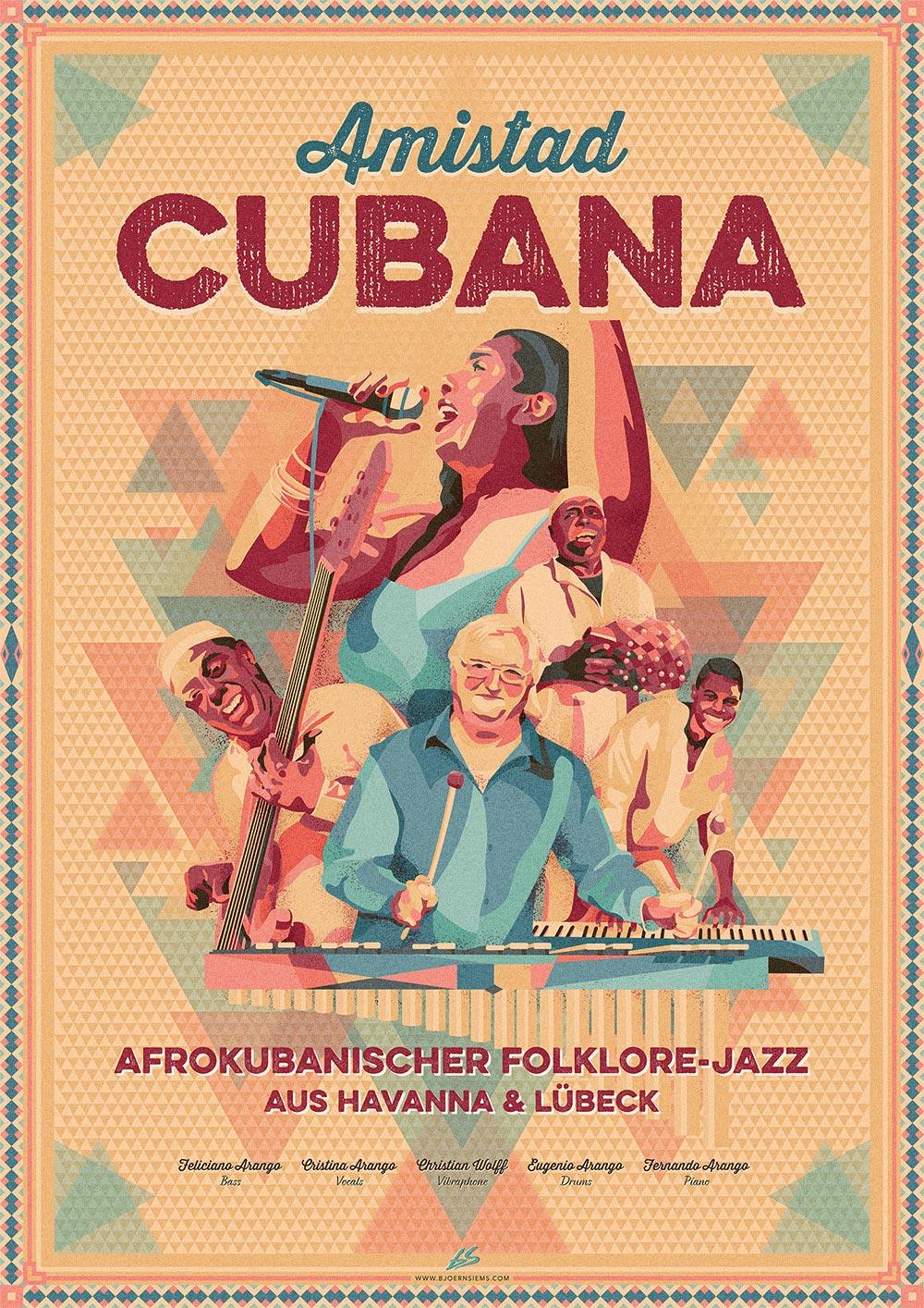 Amistad Cubana Tour 2016 Poster - Björn Siems