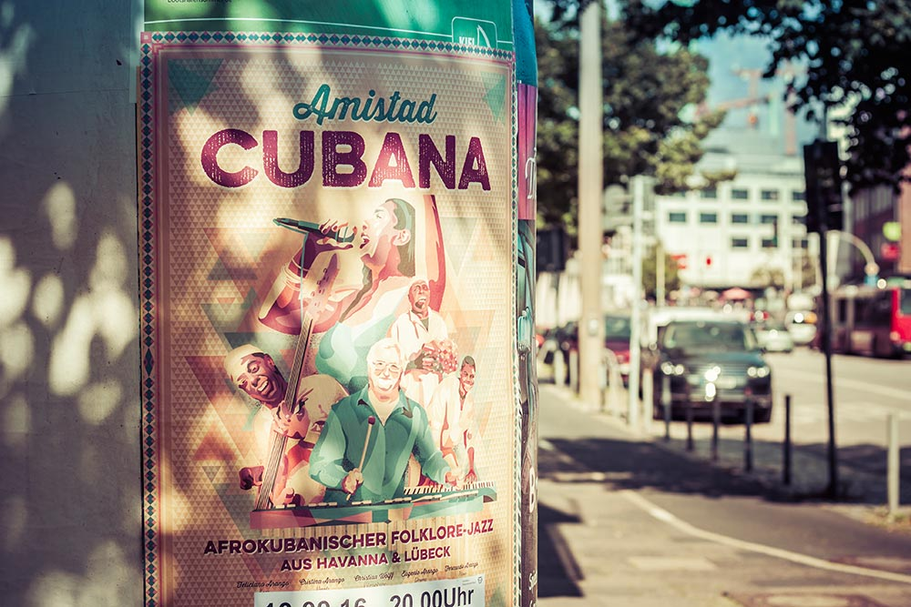 Amistad Cubana Tour 2016 Poster Outdoor - Björn Siems