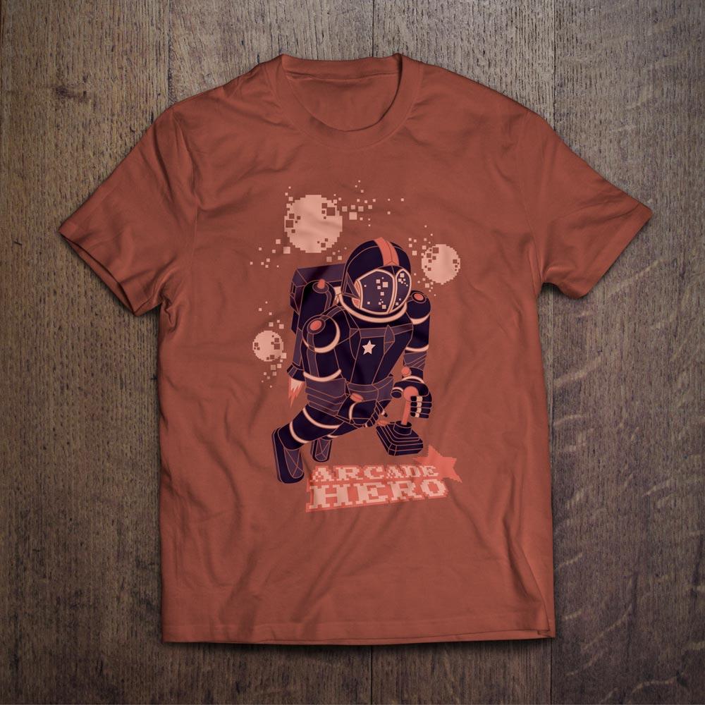 Arcade Hero T-Shirt Design - Björn Siems