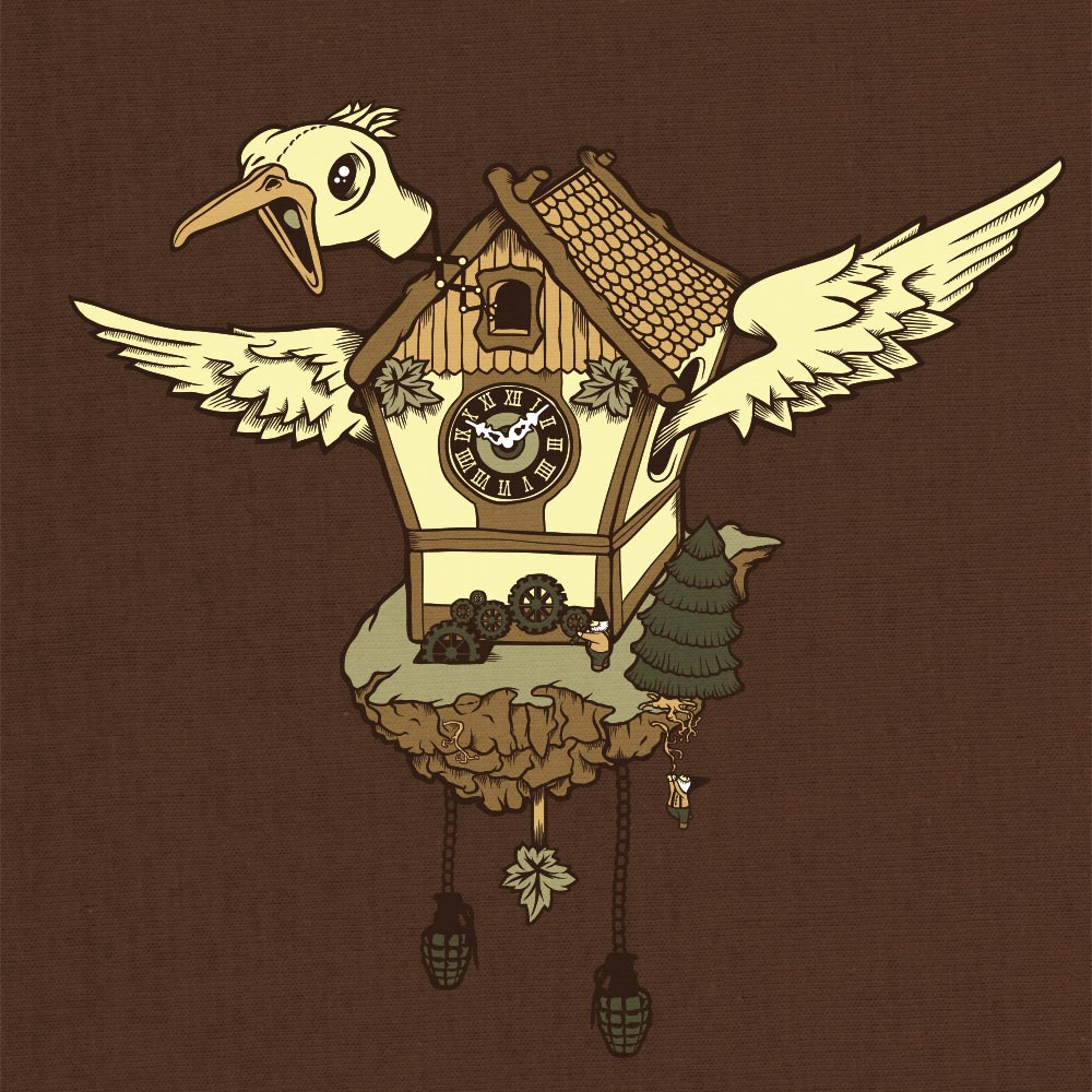 Cuckoo Clock Illustration Design - Björn Siems