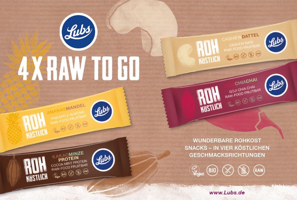 Lubs Raw-food bar packaging ad - Björn Siems