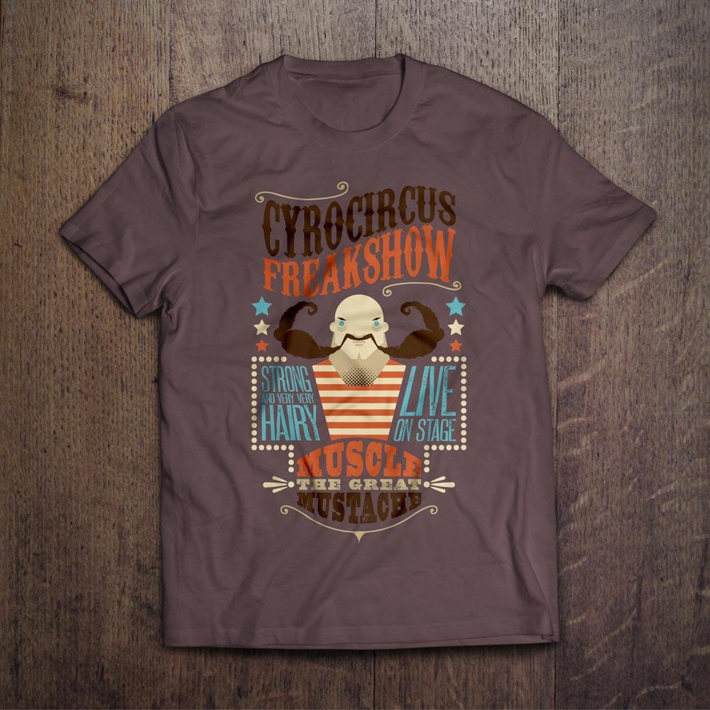 Muscle Mustache T-Shirt Design - Björn Siems